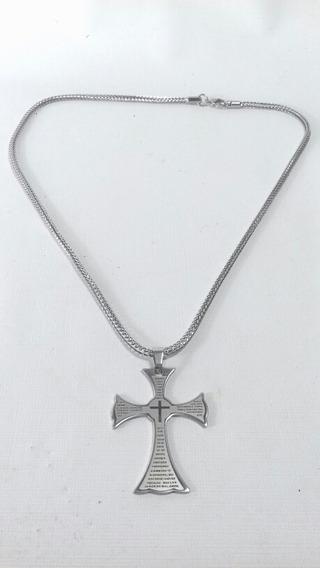 Cordão Em Aço Com Crucifixo