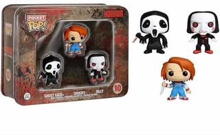 Funko Pop Pocket Horror X 3 (ghost Face, Chucky, Jigsaw)