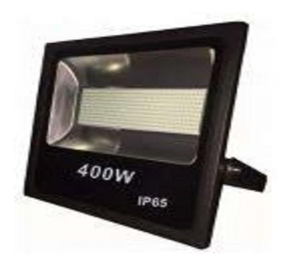 ( Kit 5 ) Refletor Micro Led Slim Smd 400w Branco Frio