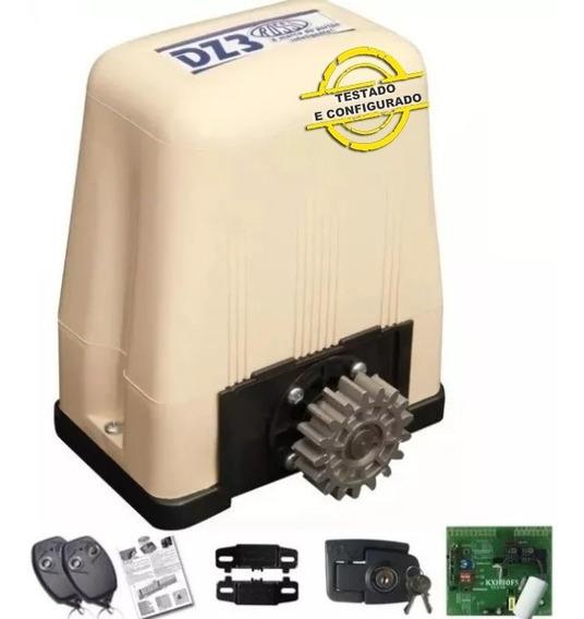 Kit Motor Deslizante Dz Portao Eletrônico Rossi Dz3 Sk Turbo