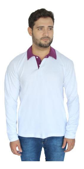 Camisa Polo Manga Longa Plus Size Comprida Extra Grande