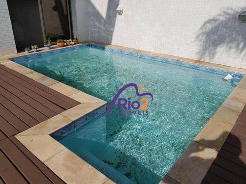 Imagem 1 de 30 de Cobertura Com 3 Dormitórios À Venda, 280 M² Por R$ 1.800.000,00 - Rio 2 - Rio De Janeiro/rj - Co0024