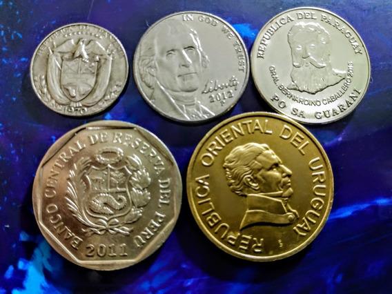 Monedas De América 1 Estados Unidos Y Otros Países