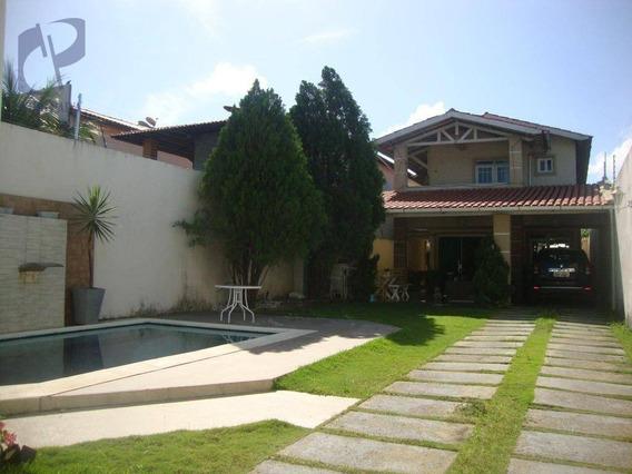 Casa Com 5 Dormitórios À Venda, 303 M² Por R$ 880.000,00 - Lago Jacarey - Fortaleza/ce - Ca3021