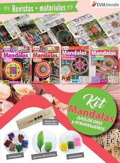 Mandalas Atrapasueños Plumas Lentejuelas Revistas Kit 15