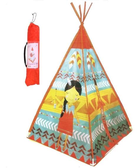 Tenda Toca Barraca Cabana Infantil Indígena Portátil Laranja