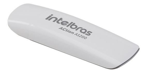 Adaptador Wireless Usb Intelbras A1200 Action 3.0 Dual Band