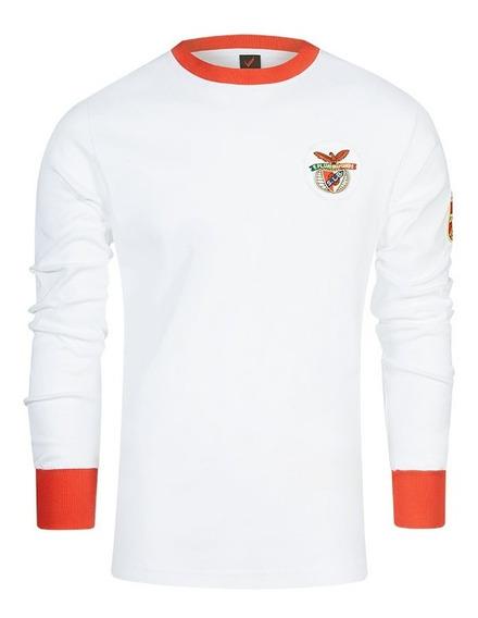 Camisa Retrô Benfica Ml Branca 1960
