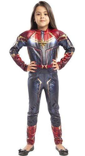Fantasia Capitã Marvel Infantil Roupa Clássica Tam.m Regina