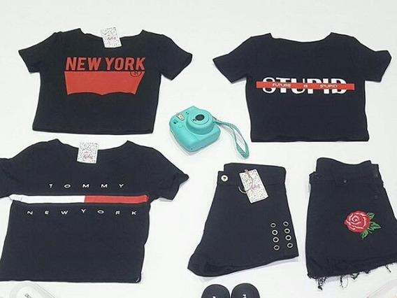 Camisas Y Shorts Negros (conjuntos)