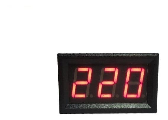 Voltimetro Digital Led Vermelho Ac Ca 110v 220v 380v