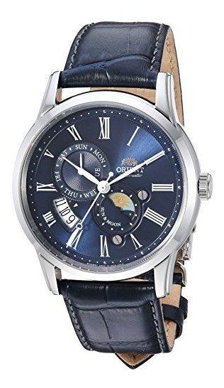 Reloj Casual Automatico De Acero Y Cuero Japones De La Serie