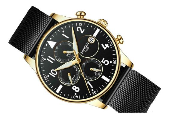 Relógio Blindado Nibosi Masculino Funcional Black Friday