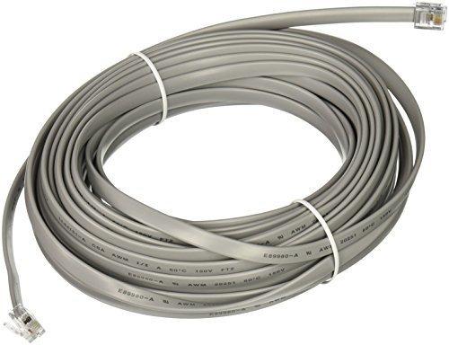 Imagen 1 de 1 de C2g 08115 Rj12 6p6c Straight Cable Modular, De Plata (50 Pie