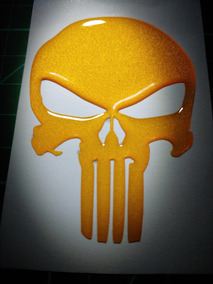 Kit 2 Adesivos Resinados Refletivos The Punisher Justiceiro