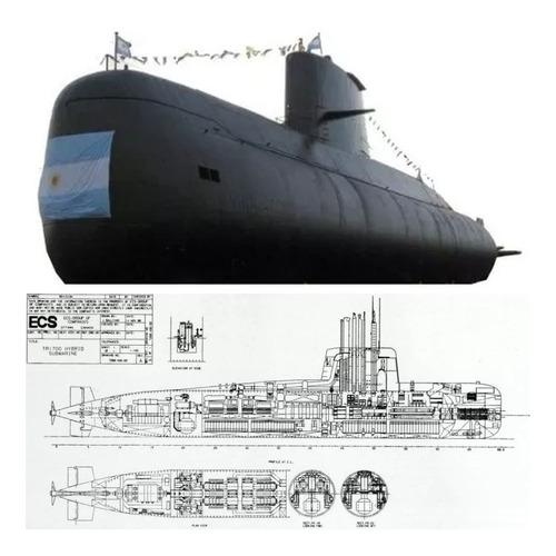 Plano Submarino Tr-1700 A.r.a. San Juan ( Envío X Email )   Mercado Libre