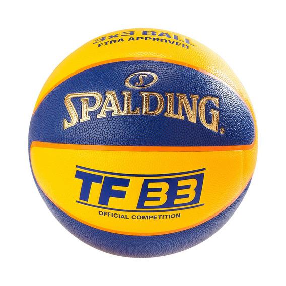 Pelota Basketball Cuero Tf33 Amarillo - Spalding