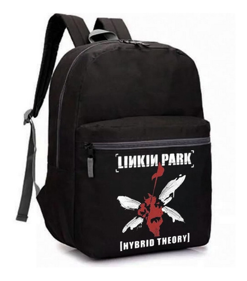 Mochila Escolar Linkin Park Banda Rock Album Hybrid Theory