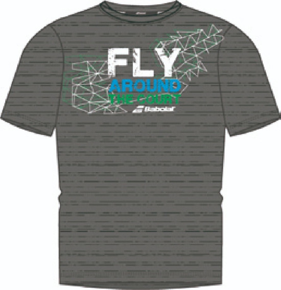 Remera Babolat Hombre Fly Gris