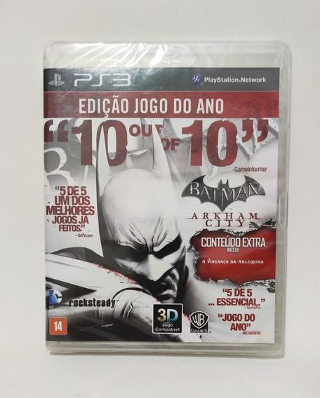 Jogo Batman Arkham City Edição Jogo Do Ano Ps3 Novo Lacrado