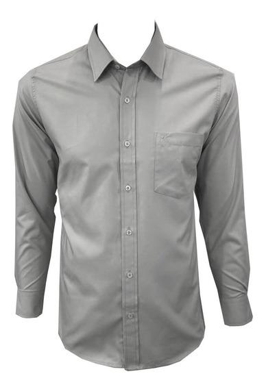 Camisa De Vestir Manga Larga Para Hombre