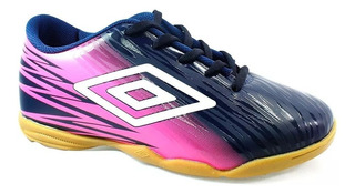 Chuteira Futsal Feminina Umbro Hit 782539 Marinho Com Pink