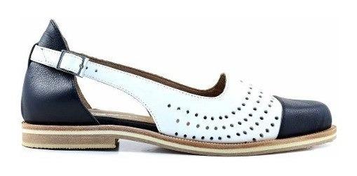 Chatita Mujer Cuero Briganti Zapato Vestir Suela - Mccha2990