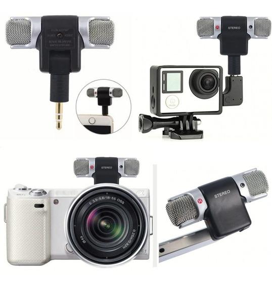 Microfone Mini Stéreo P2 Para Celular Câmera Digital Gopro