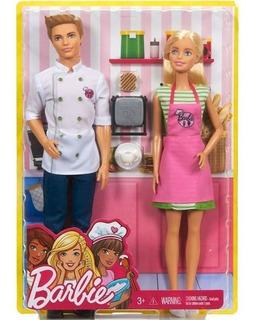 Barbie Y Ken Chef Juego De Café Cocina Original Mattel