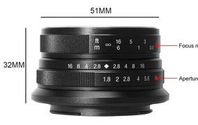 Lente Fixa Manual 7artisans 25mm F/1.8 Para Canon Eosm Ef-m
