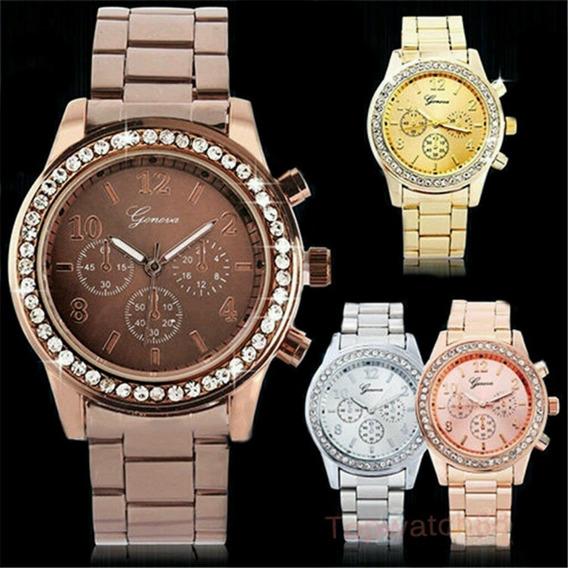 Relógio Genebra Jennifer (marrom)