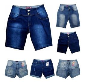 Roupas Femininas Atacado Kit De 03 Bermuda Jeans 36ao52