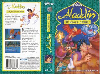 Aladdin El Genio En La Botella Vhs Walt Disney