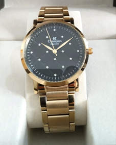 Relógio Dourado Champion Cn25976u