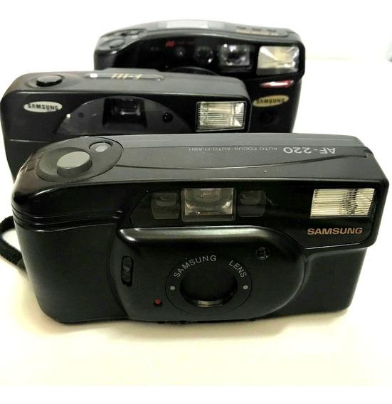 3 Câmera Fotografica Analogica Yashica Mg-3 Retro P/ Coleção