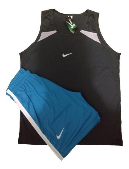 Kit 6 Regatas + 6 Shorts Masculino Treino/futebol/academia