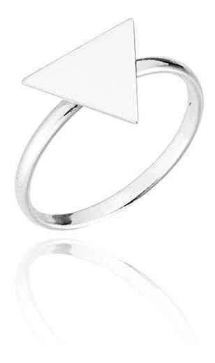Anel Prata 925 Triângulo Equilátero