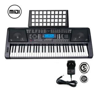Teclado Musical Organo Piano T04 61 Teclas Display Lcd Midi