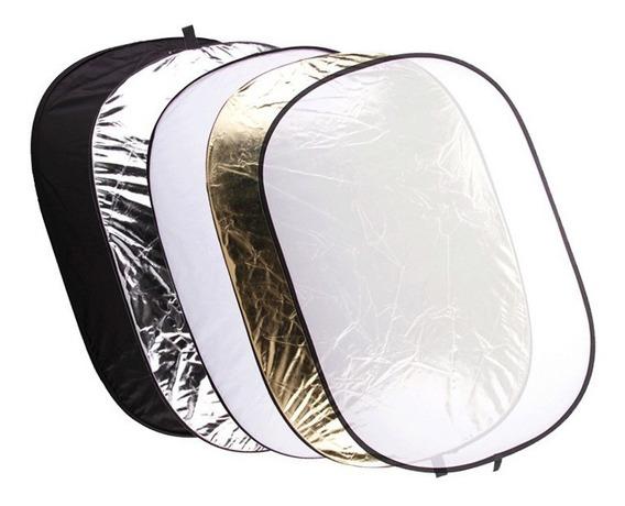 Rebatedor Oval Fotográfico 120x180cm Difusor 5 Em 1 Dobrável