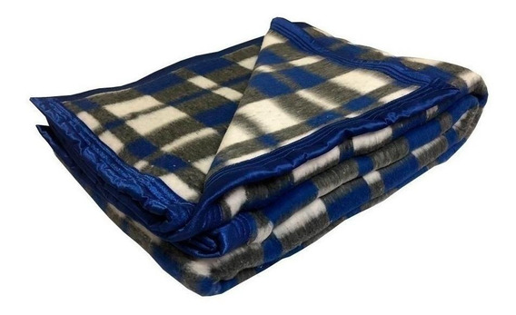 Cobertor Guaratinguetá Boa Noite Casal azul-royal Xadrez