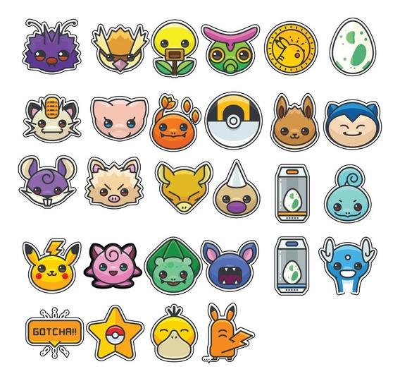 29 Mini Adesivos Pokémon 3x3 Scrapbook Planner Frete Grátis