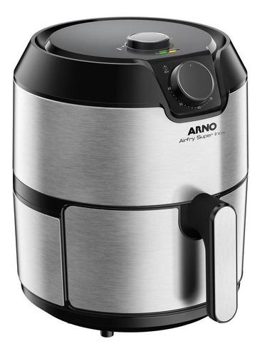 Fritadeira elétrica sem óleo Arno Airfry Super 4.2L preta e prata 110V