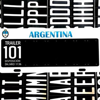 Patente 101 Trailer Remolque Chapa Ploteada Para Armar