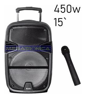 Bafle Parlante Potenciado 15` 450w Kolke Usb Bluetooth Sd