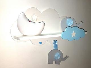 Estante Flotante Repisa Infantil Nube