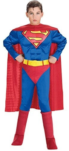 Super Dc Heroes Deluxe Disfraz De Superhéroe De Pecho Muscul