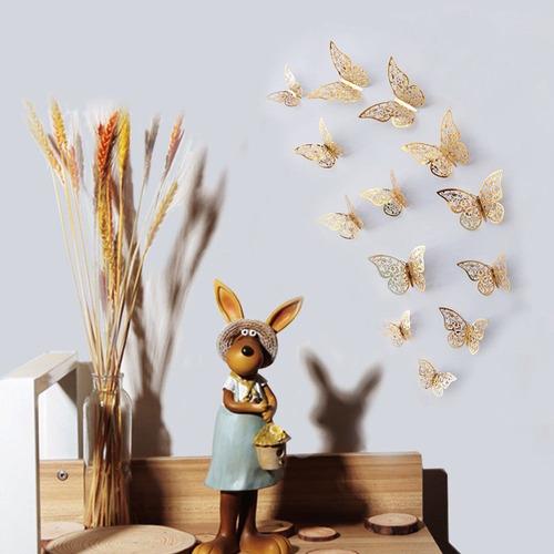 Mariposas Decorativas Caladas 3d !!! 12 Piezas