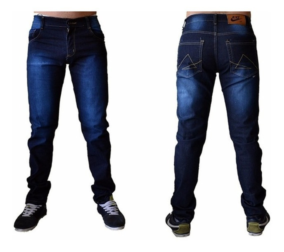 Calça Jeans Sarja Masculina Slim Fit C/ Lycra Skinny