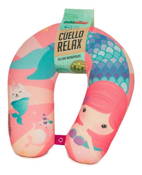Almohada Cuello Viaje Relax Nena Niñas Sirenita Infantil