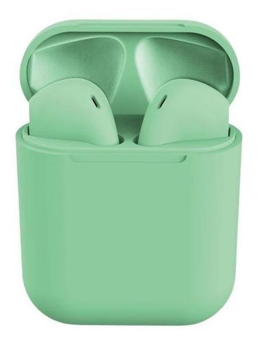 Audífonos In-ear inalámbricos i12 TWS verde